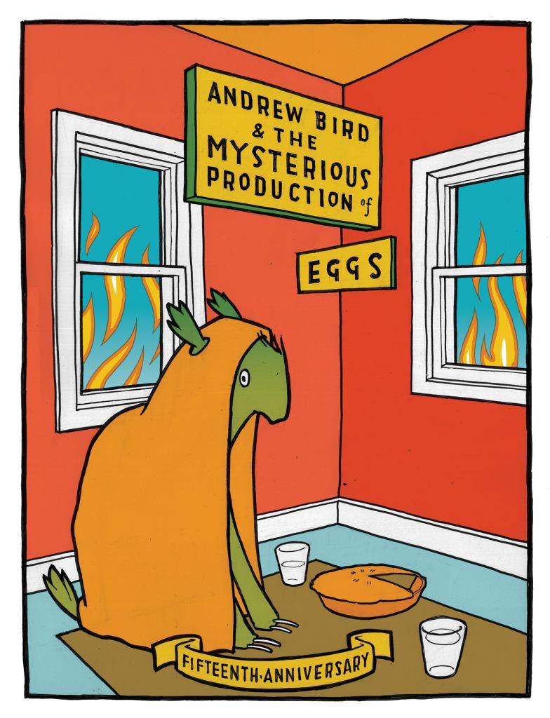 "Poster conmemorativo de 15 años de ""The Mysterious Production of Eggs"""